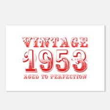 VINTAGE 1953 aged to perfection-red 400 Postcards