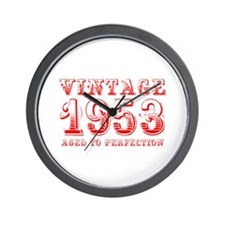 VINTAGE 1953 aged to perfection-red 400 Wall Clock