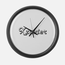 Xzavier Classic Style Name Large Wall Clock