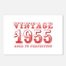 VINTAGE 1955 aged to perfection-red 400 Postcards