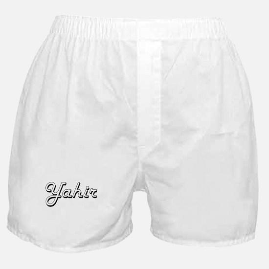 Yahir Classic Style Name Boxer Shorts