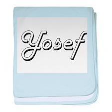 Yosef Classic Style Name baby blanket