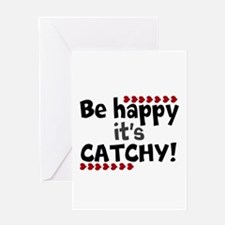 BE HAPPY Positive Thinking Quote Greeting Cards