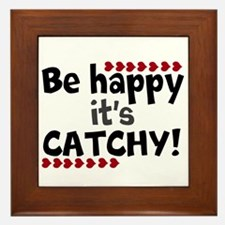 BE HAPPY Positive Thinking Quote Framed Tile