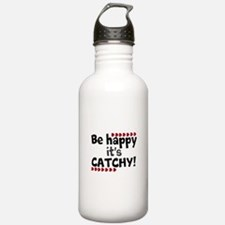 BE HAPPY Positive Thinking Quote Sports Water Bott