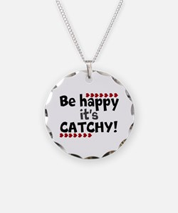 BE HAPPY Positive Thinking Quote Necklace