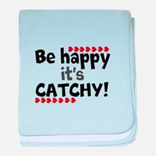BE HAPPY Positive Thinking Quote baby blanket
