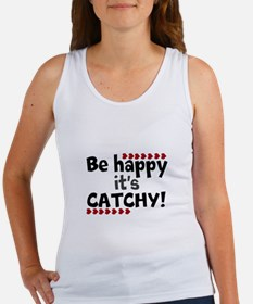 BE HAPPY Positive Thinking Quote Tank Top