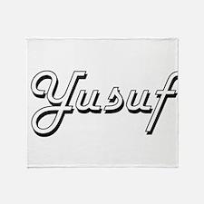 Yusuf Classic Style Name Throw Blanket