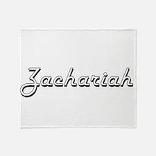 Zachariah Classic Style Name Throw Blanket