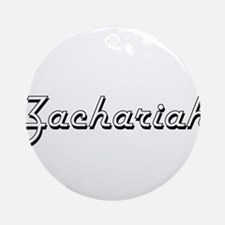 Zachariah Classic Style Name Ornament (Round)