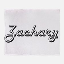 Zachary Classic Style Name Throw Blanket