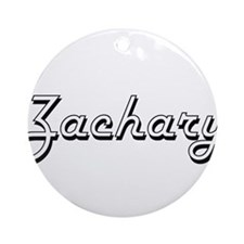 Zachary Classic Style Name Ornament (Round)
