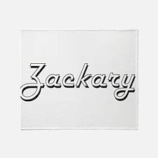 Zackary Classic Style Name Throw Blanket