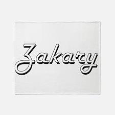 Zakary Classic Style Name Throw Blanket