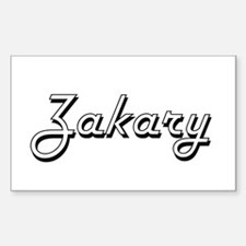 Zakary Classic Style Name Decal