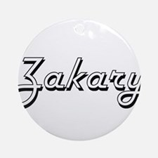 Zakary Classic Style Name Ornament (Round)
