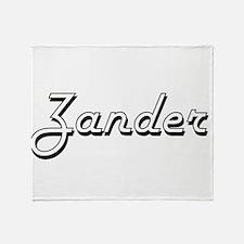 Zander Classic Style Name Throw Blanket