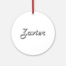 Zavier Classic Style Name Ornament (Round)
