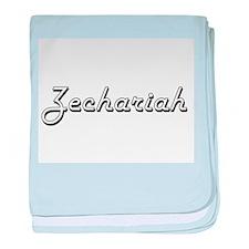Zechariah Classic Style Name baby blanket