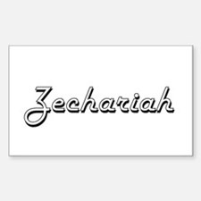 Zechariah Classic Style Name Decal