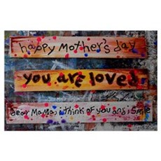 mothers day collage Poster