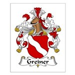 Greiner Family Crest Small Poster