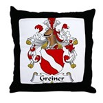 Greiner Family Crest Throw Pillow