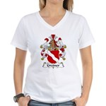 Greiner Family Crest Women's V-Neck T-Shirt