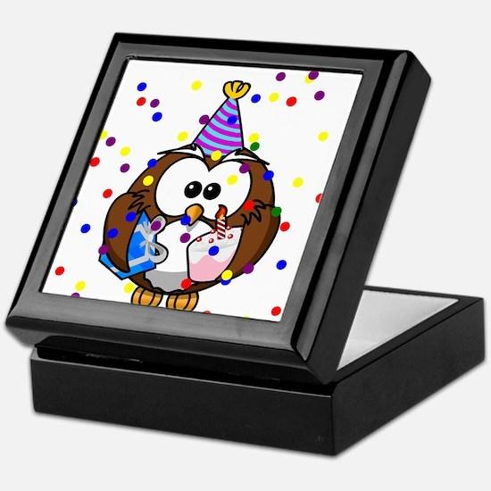 Party Owl Confetti Keepsake Box