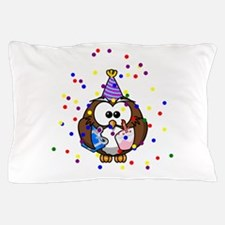 Party Owl Confetti Pillow Case