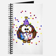 Party Owl Confetti Journal