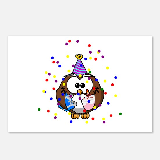 Party Owl Confetti Postcards (Package of 8)