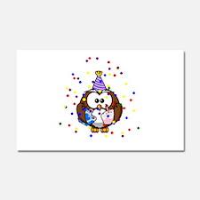Party Owl Confetti Car Magnet 20 x 12