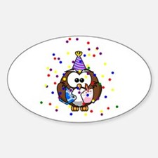 Party Owl Confetti Decal