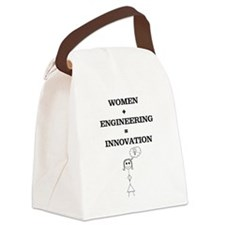 Women + Engineering Canvas Lunch Bag