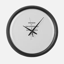 Women + Engineering Large Wall Clock