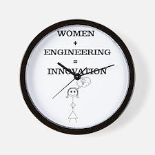 Women + Engineering Wall Clock