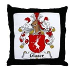Glaser Family Crest Throw Pillow