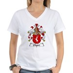 Glaser Family Crest Women's V-Neck T-Shirt