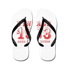 VINTAGE 1963 aged to perfection-red 400 Flip Flops