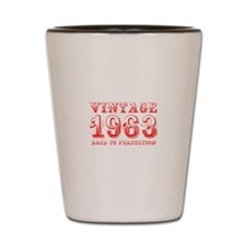 VINTAGE 1963 aged to perfection-red 400 Shot Glass