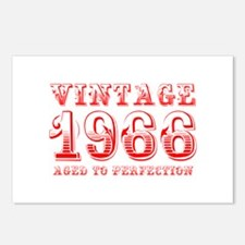 VINTAGE 1966 aged to perfection-red 400 Postcards