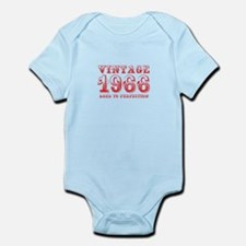 VINTAGE 1966 aged to perfection-red 400 Body Suit