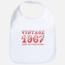 VINTAGE 1967 aged to perfection-red 400 Bib