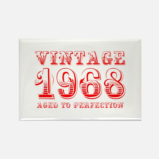 VINTAGE 1968 aged to perfection-red 400 Magnets