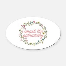 Smash the Patriarchy Oval Car Magnet