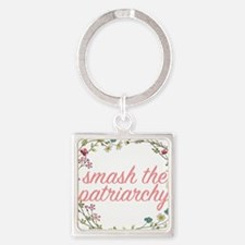 Smash the Patriarchy Square Keychain
