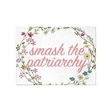 Smash the Patriarchy 5'x7'Area Rug