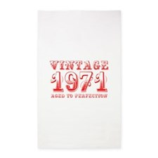 VINTAGE 1971 aged to perfection-red 400 Area Rug